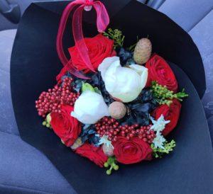Cvetličarna Omers - rdeč dekor
