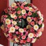 Cvetličarna Omers - venec rdečo roza