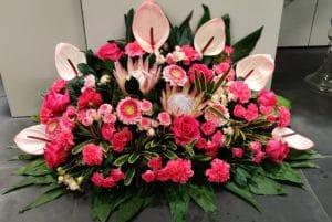 Cvetličarna Omers - ikebana roza