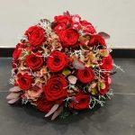Cvetličarna Omers - venec rdeči
